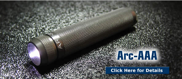 Arc-AAA LED Torch / Flashlight