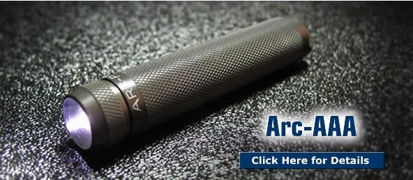 Arc-AAA LED Torch / Flashlight
